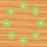 Vector background on wood Stock Photography