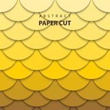Vector background with yellow gradient color paper cut shapes. vector illustration