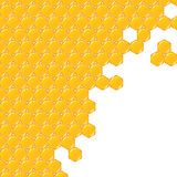 Vector background. Yellow and orange honeycomb. Stock Photo