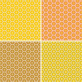 Vector background. Yellow and orange honeycomb. Stock Images