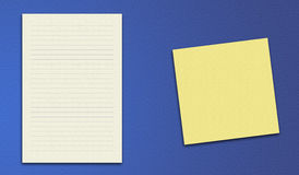 Vector background yellow paper note Royalty Free Stock Images