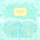 Vector backgroundl with winter landscape Royalty Free Stock Images