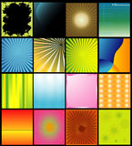 Vector backgrounds. Abstract illustration compositions