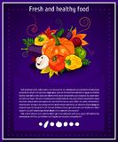 Vector backgrounds, banners about healthy eating. Vector vegetables elements for infographics.  vegetables. Stock Photography
