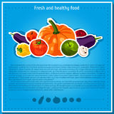 Vector backgrounds, banners about healthy eating. Vector vegetables elements for infographics.  vegetables. Stock Images