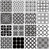 Vector backgrounds collection. Set of monochrome geometric seamless patterns. Vector backgrounds collection vector illustration