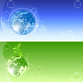 Vector backgrounds with globe Stock Image