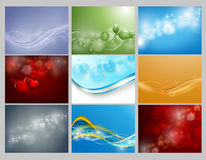Vector backgrounds set Stock Image