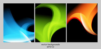 Vector backgrounds set Royalty Free Stock Photo