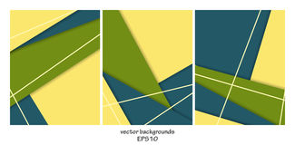 Vector backgrounds set Royalty Free Stock Photos