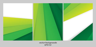 Vector backgrounds set Stock Photography