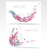 Vector backgrounds set with floral elements. Stock Images