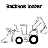 Vector of backhoe loader cartoon Stock Photo
