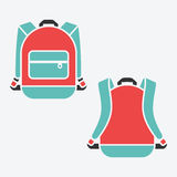 Vector backpack. Bag for school or travel, baggage object illustration Royalty Free Stock Photography