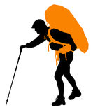 Vector Backpacker Stock Image