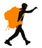 Vector Backpacker Stock Image