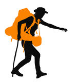 Vector Backpacker Royalty Free Stock Photos