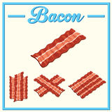 Vector bacon set.Hand drawn bacon. Royalty Free Stock Image