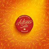 Vector badge - autumn sale Stock Photography