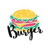 Vector badge burger Stock Image