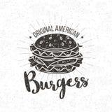 Vector badge burger Royalty Free Stock Photo