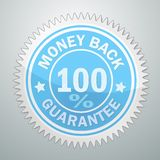 Vector badge of money back garantee Stock Photography