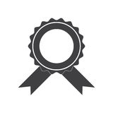 Vector badge with ribbons icon Royalty Free Stock Photos