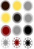 Vector badge set in 3 different color Stock Images