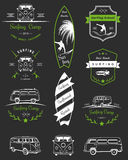 Vector Badges and Logos Surfing Stock Photography