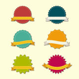 Vector Badges Ribbons Stock Photos