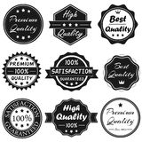 Vector Badges Set 1. Black & White Vector Badges for Business Stock Photo