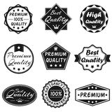 Vector Badges Set 2. Black & White Vector Badges for Business Royalty Free Stock Images
