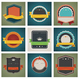 Vector badges set royalty free illustration