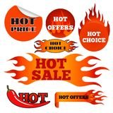 Vector badges shop product hot sale best price stickers buy commerce advertising tag discount promotion vector Royalty Free Stock Photos