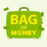 Vector bag of money Stock Photo