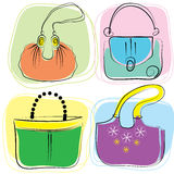 Vector bags. Vector color bags . Fashion accessories for women Royalty Free Stock Photo