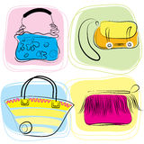 Vector bags. Vector color bags . Fashion accessories for women Stock Photography