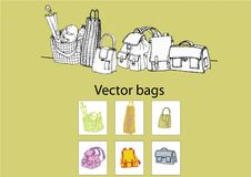 Vector bags Royalty Free Stock Image