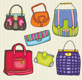 Vector bags. Fashion woman bags collection Stock Images