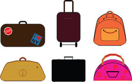 Vector bags. Set of vector pictures of bags Stock Image