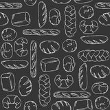 Vector. Bake, Bread mix seamless background. Good for packaging, wrapping paper or other accessories for bakery. Black and white p Stock Photo