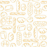 Vector. Bake, Bread mix seamless background. Royalty Free Stock Image