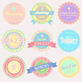 Vector bakery Badges And Labels Royalty Free Stock Photography