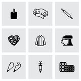 Vector Bakery icon set Royalty Free Stock Image
