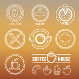 Vector bakery and pastry emblems Royalty Free Stock Images