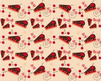 Vector of Bakery Pattern with Cherry Royalty Free Stock Photography