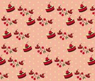 Vector of Bakery Pattern with Dot Background Royalty Free Stock Images