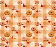 Vector of Bakery Pattern with Vanilla Background Stock Photography
