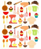 Vector of Bakery tools Stock Photography