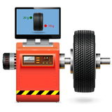 Vector Balancing Wheel Service Stock Image